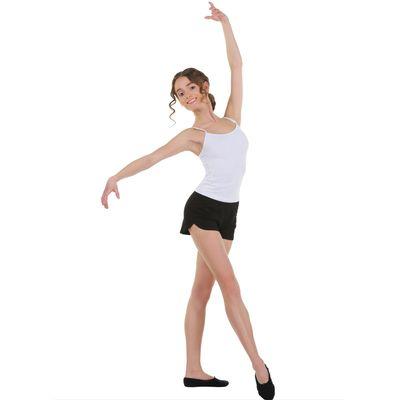 Шорты для гимнастики, размер 28, цвет чёрный