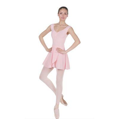 Юбка для гимнастики с запахом, размер 28, цвет розовый
