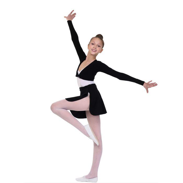 Болеро гимнастическое, размер 28, цвет чёрный