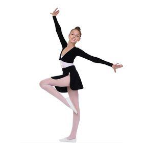 Болеро гимнастическое, размер 32, цвет чёрный