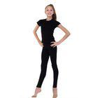 Леггинсы для гимнастики, размер 32, цвет чёрный