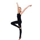 Леггинсы для гимнастики с пяткой, размер 34, цвет чёрный