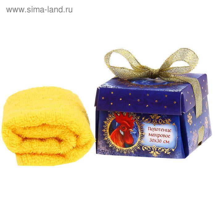 """Полотенце махровое Collorista """"С новым годом!!"""" 30 х 30 см, 100% хлопок 410 гр/м2"""