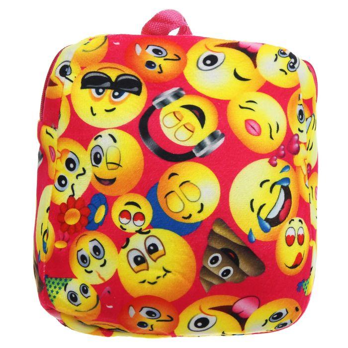 "Мягкий рюкзак ""Смайлы"""