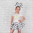 Карнавальный набор «Милашка», 2 предмета: юбка, ободок, цвет белый