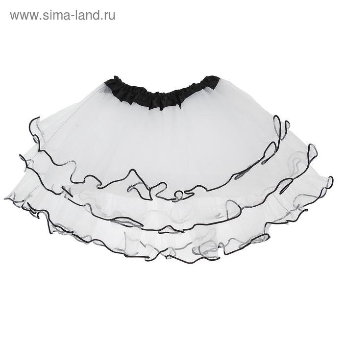Карнавальная юбка 4-х слойная 4-6 лет, цвет белый