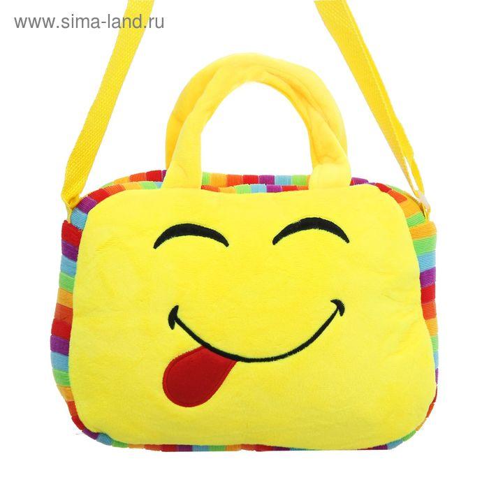 """Мягкая сумочка """"Смайлик"""" показывает язык"""