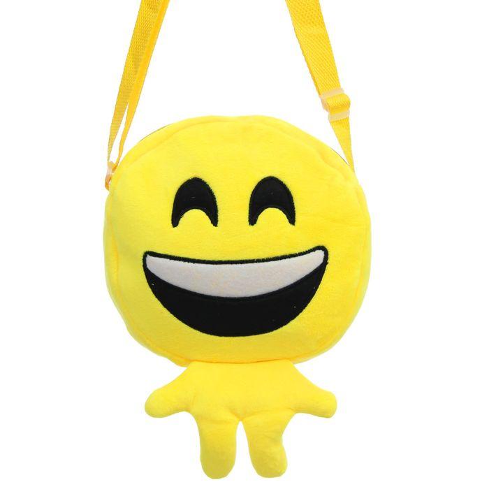Мягкая сумочка «Смайлик», смеётся