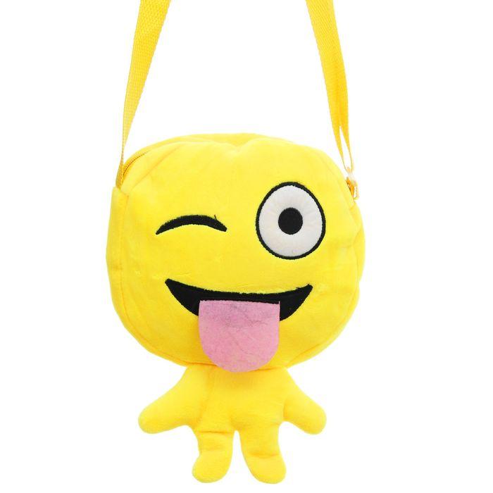 Мягкая сумочка «Смайлик», показывает язык