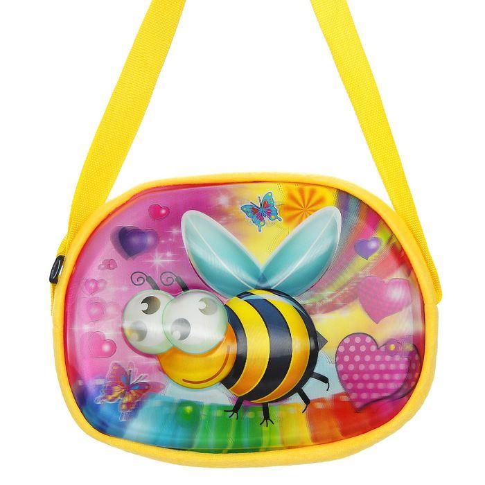 Мягкая сумочка 3Д «Пчелка»