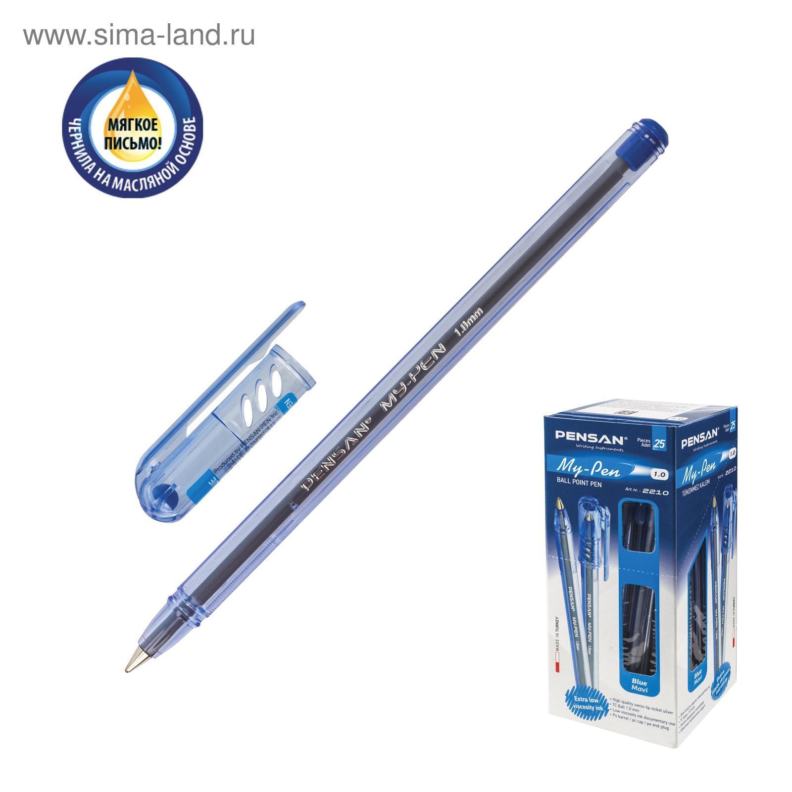 Ручка шариковая Pensan My-Pen Vision 2210, узел 1.0 мм, синие чернила 0c91ba6d5e2