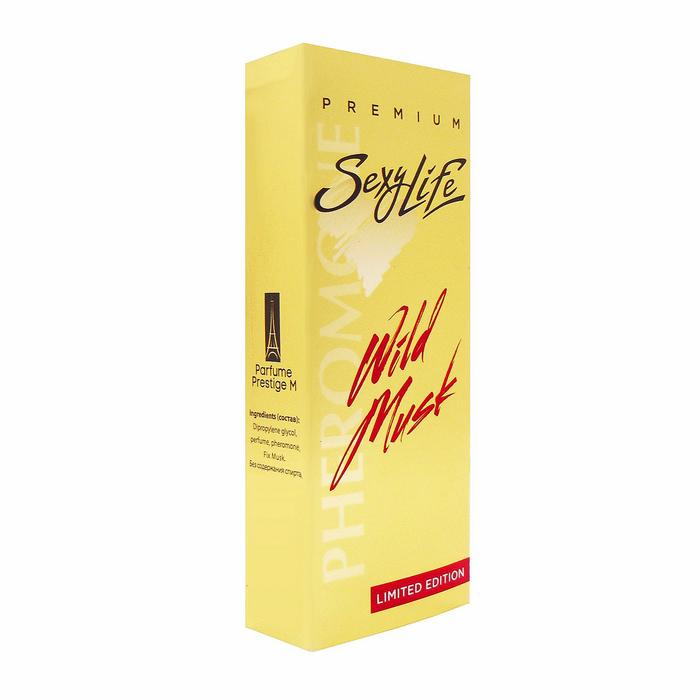 Духи Sexy Life Wild Musk № 1 с феромонами, мужские, масляная основа, 10 мл