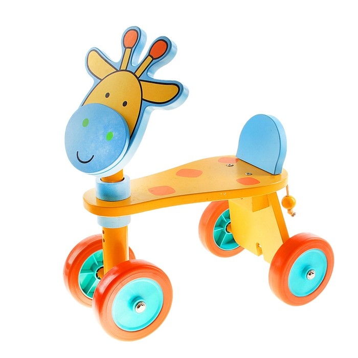 "Детская каталка ""Жирафик"" на колёсиках"