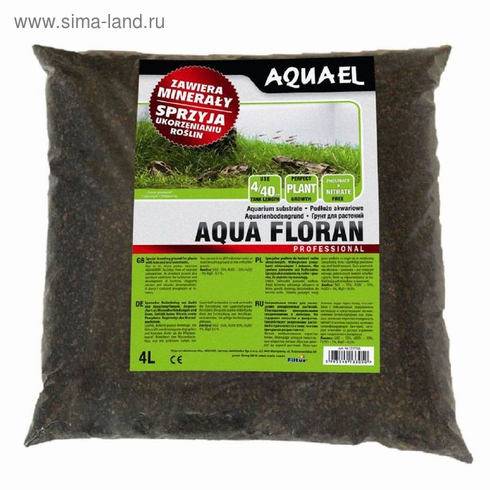 Aqua floran 4 л. (AquaEl) минеральный субстрат