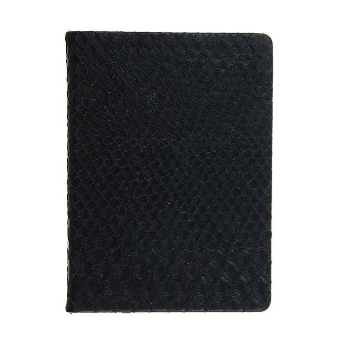 Ежедневник недатированный формат А6, 80 листов, линия, Крокодил черный