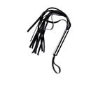 Плеть Sitabella, хромированная рукоять, 30 см, 12 хвостов, чёрная