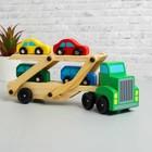 Игрушка деревянная «Автовоз», цвета МИКС - фото 106523269