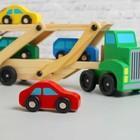 Игрушка деревянная «Автовоз», цвета МИКС - фото 106523270