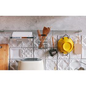 Рейлинговая система для кухни Доляна: базовый набор, 10 предметов