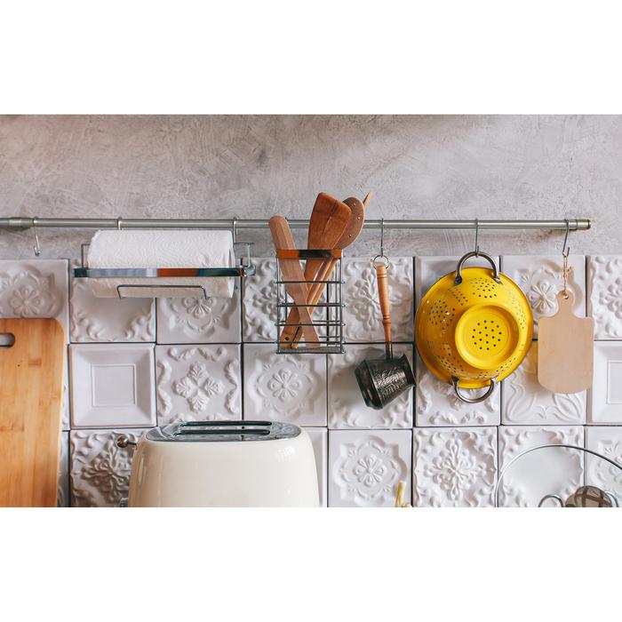 Рейлинговая система для кухни: базовый набор 10 предметов