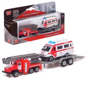 Набор 'Пожарная техника', 7,5 см, МИКС Ош