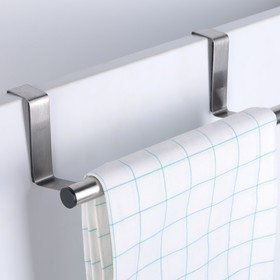 Вешалка надверная универсальная «Классик», 23×7×2,3 см, цвет хром - фото 4641567