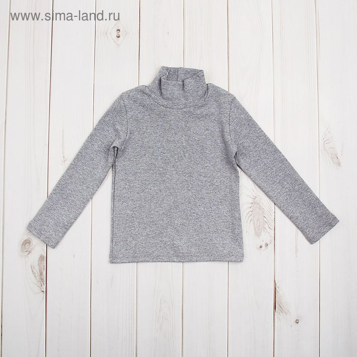 Водолазка для мальчика, рост 122 (32) см, цвет серый меланж (арт. Р-005/2_Д)