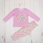 Пижама для девочки, рост 92 (26) см, цвет розовый (арт. К-004_М)