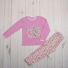 Пижама для девочки, рост 98 (28) см, цвет розовый (арт. К-004_Д)