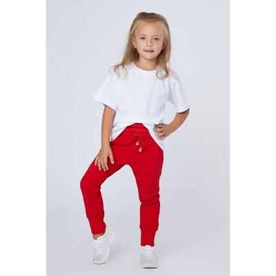 Брюки для девочки, рост 98 (28) см, цвет красный (арт. П-001_Д)