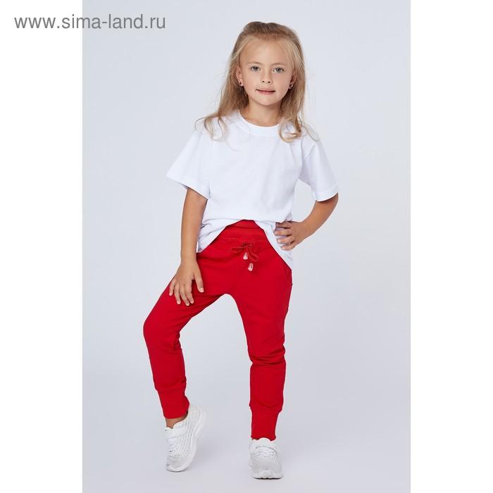 Брюки для девочки, рост 116 (30) см, цвет красный (арт. П-001_Д)