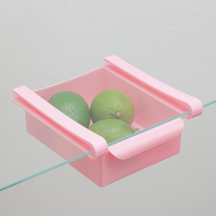Полка подвесная в холодильник, 16,5×16×8 см, цвет МИКС