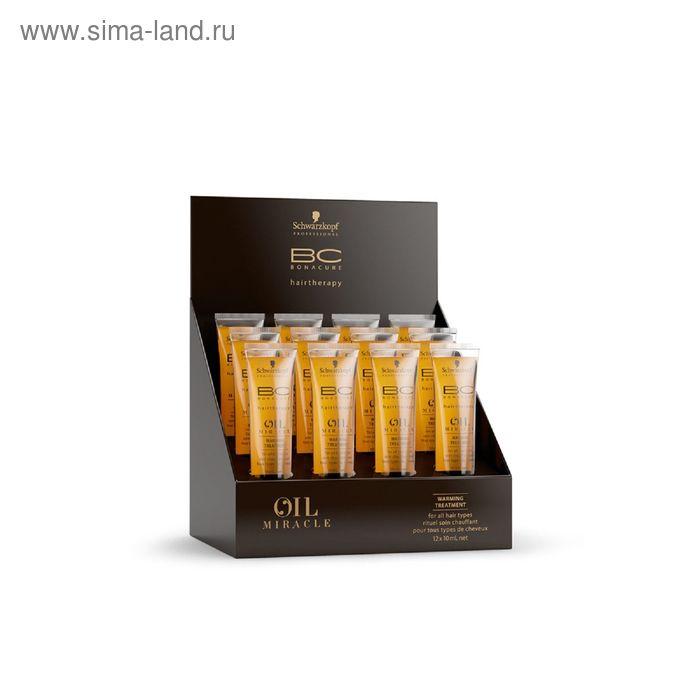 Масло Bonacure Oil Miracle для повреждённых волос, согревающее, 12 × 10 мл