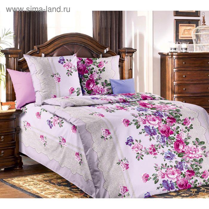 "Постельное бельё 1,5 сп., Белиссимо ""Кружевница 2"", цвет розовый, размер 215х143 см, 214х145 см, 70х70 см - 2 шт., бязь, 125 г/м2"