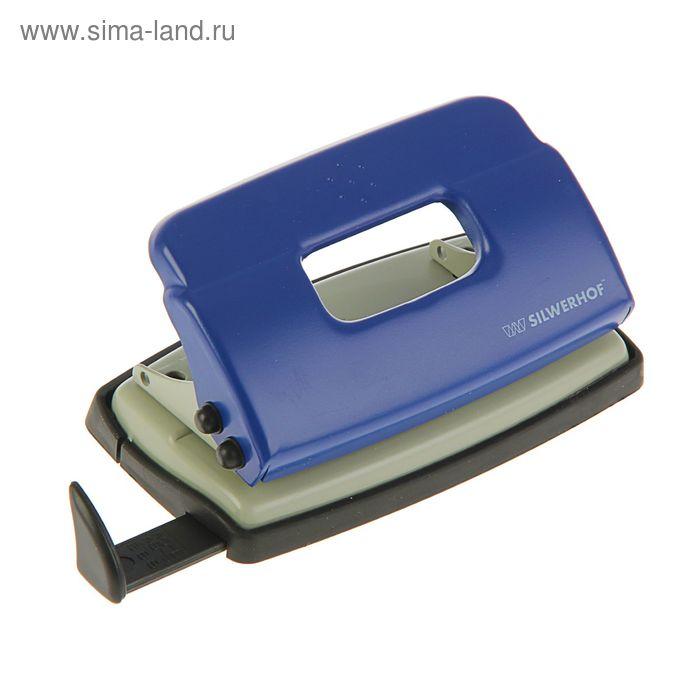 Дырокол металлический 10л DEBUT, форматная линейка, синий 392029-02