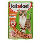 Влажный корм Kitekat для кошек, индейка, пауч, 85 г