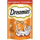 Лакомство Dreamies для кошек, курица, 140 г
