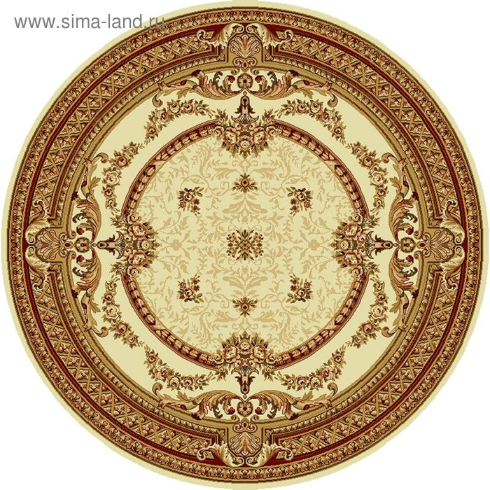 Ковёр круглый DOFIN CLASSIC EUROPEAN,  размер 150х150 см, рисунок 209/1659 0105