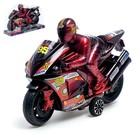 Мотоцикл инерционный «Спортбайк», с гонщиком, цвет МИКС - фото 1020244