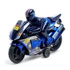 Мотоцикл инерционный «Спортбайк», с гонщиком, цвет МИКС - фото 1020247