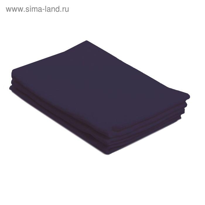 Полотенце вафельное однотонное цв т-синий 40х70 см 160 гр/м хлопок
