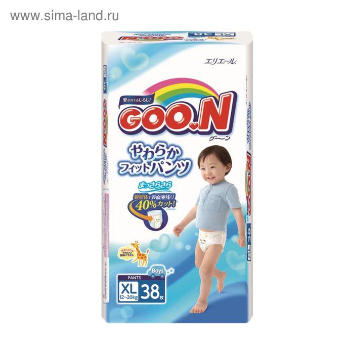 Подгузники-трусики Goo.N для мальчиков, размер XL (12-20 кг), 38 шт.