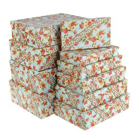 "Set boxes 10b1 ""Watercolor stripe"", 36.5 x 26.5 x 12 - 23 x 13 x 3 cm"