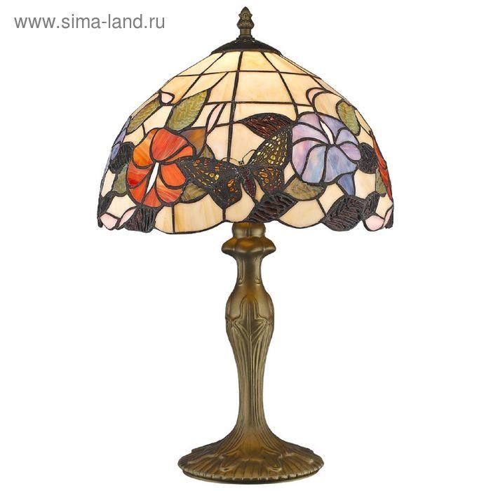 "Настольная лампа ""Бабочки в цветах"" 60Вт Е27 разноцветный"