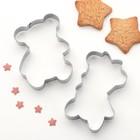 """Набор форм для вырезания печенья """"Мишки"""", 2 шт - фото 183298558"""
