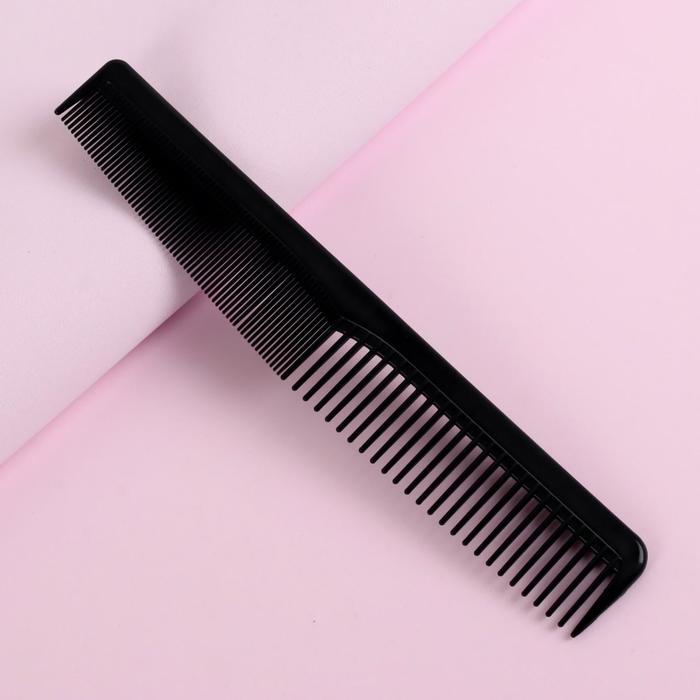 Расчёска комбинированная, 18 × 3 см, цвет чёрный