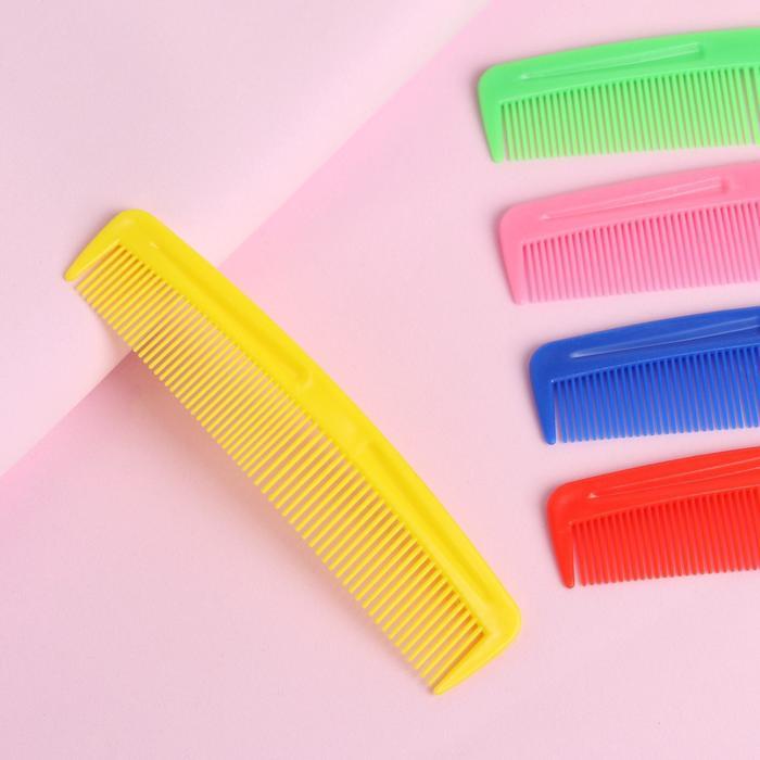 Расчёска комбинированная, 12 × 3 см, цвет МИКС
