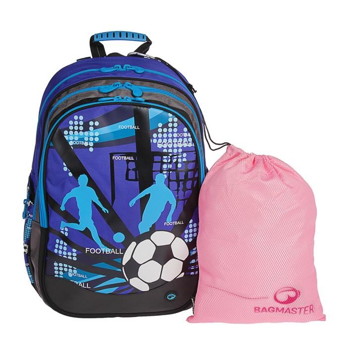 Рюкзак школьный эргономичная спинка Bagmaster EV07 0114A 40*30*19 + ПОДАРОК: мешок для обуви