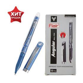 Ручка шариковая Flair Angular для левшей, узел-игла 0.7 мм, стержень синий