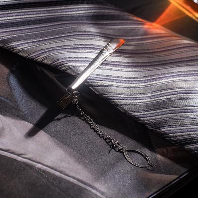 """Зажим для галстука """"Классический"""" стрела, цвет серебристый"""